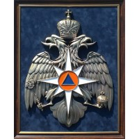 Панно с символикой МЧС 45х56см
