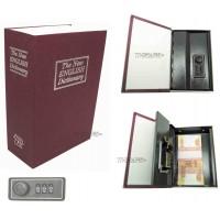 Книга сейф с кодовым замком The new english dictionary BORDO  18см