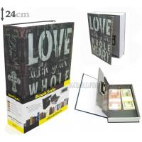 Книга сейф с кодовым замком  LOVE| 24см
