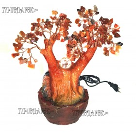 """Фонтан настольный """"Янтарное дерево"""", 26см подсветка"""
