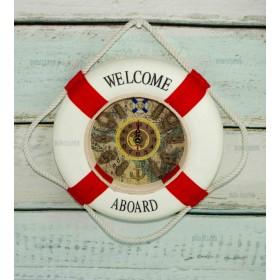 Часы Спасательный круг 35см красные