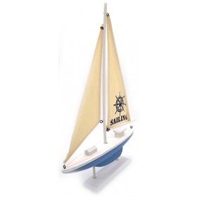 Модель яхты 42 см, дерево
