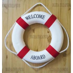декоративный Спасательный круг  50 см красный