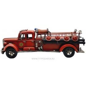 Пожарная машина, ретро-модель  51см, металл
