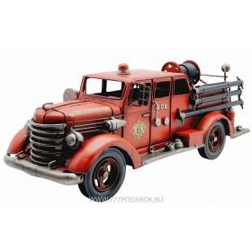 Пожарная машина, ретро-модель  42cм, металл