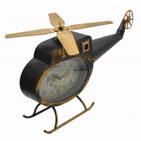 Вертолет с часами 36см, металл