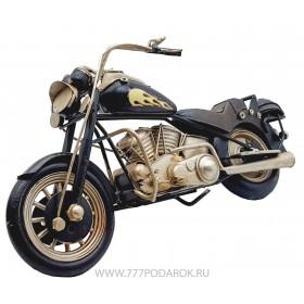 Модель дорожного мотоцикла 28 см, металл