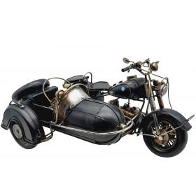 Модель  мотоцикла BMW с коляской, металл 36см