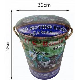 Сундук-банкетка MOTO GREEN 40х30 см
