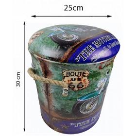 Сундук-банкетка MOTO GREEN 30х25 см