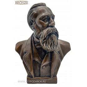 Бюст  Фридрих Энгельс  бронза 18 см