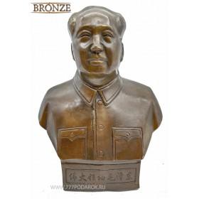 Бюст  Мао Цзэдун бронза 18 см