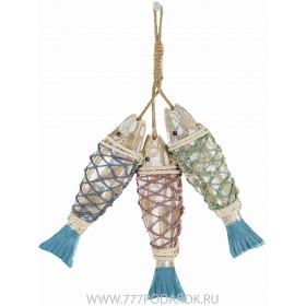 Декоративные деревянные рыбы 34 см (комплект 3шт) NET
