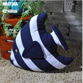 Декоративная подушка Рыбка  44 см BLUE