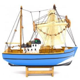 декоративная Рыбацкая лодка с сетями, дерево, 26см