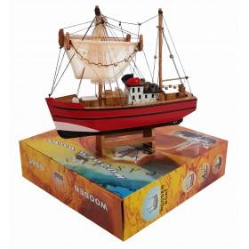 декоративная Рыбацкая лодка с сетями, дерево, 26см r