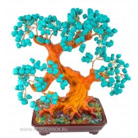 "дерево камней  ""Бирюза""  30см"
