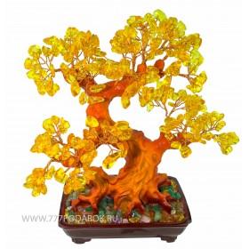 """дерево камней  """"Янтарь""""  30см"""