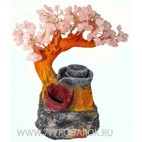 "Фонтан домашний  ""Цветущая сакура"", 26см подсветка"