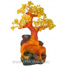 """Фонтан настольный """"Янтарное Дерево """", 35см подсветка"""