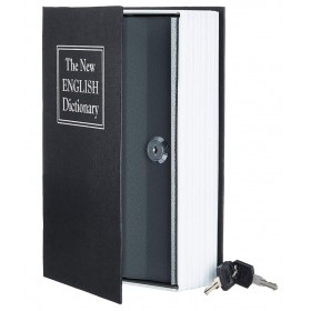 Книга сейф с ключами 18см The new english dictionary Black