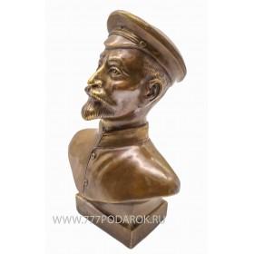 Бюст  Дзержинский Ф.Э. бронза 18 см