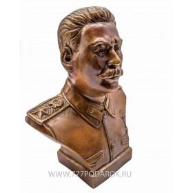 Бюст  Сталин И.В. бронза 18 см