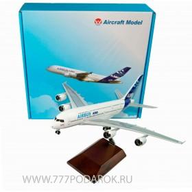 металлическая модель самолета AIRBUS A380 мини копия, 47см