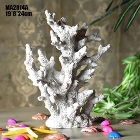Декоративный Коралл  24 см, Белый