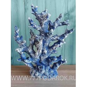 Декоративный Коралл  24 см, синий