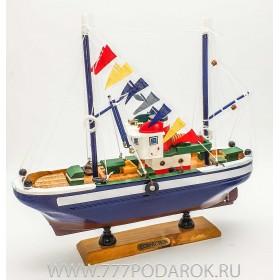 Праздничная лодка, дерево, 26см