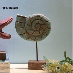 Ракушка, натуральное дерево, морской декор