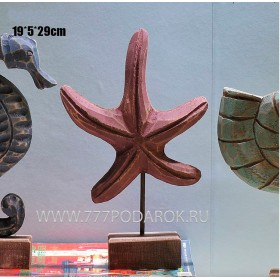 Морская Звезда,  натуральное дерево, морской декор