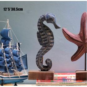 Морской  Конек,  натуральное дерево, морской декор