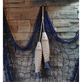 Декоративные деревянные рыбы 35 см (комплект 2шт)