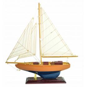Модель яхты из дерева 34 см