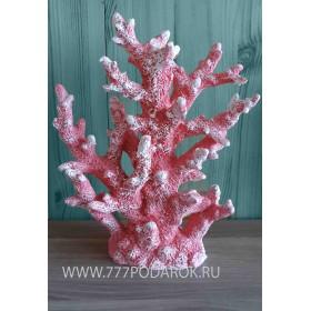 Декоративный Коралл  24 см, розовый