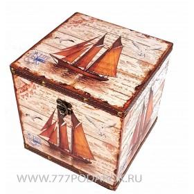 "Сундук морской ""Шхуна""  20х20см"