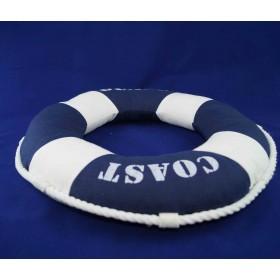 Декоративная подушка-спасательный круг 40 см, синий цвет