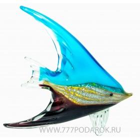 Морская рыбка. Стеклянная фигурка в стиле Мурано. Высота 21 см B
