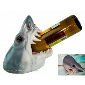 Акула,настенный декор, подставка для бутылки,