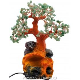 """Фонтан """"Нефритовое дерево """" 35см, подсветка, шар"""
