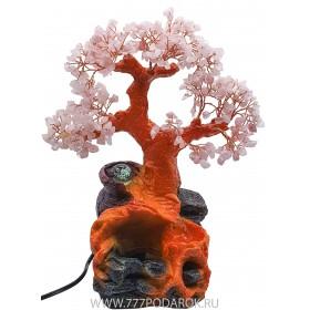"""Фонтан """"Цветущая сакура"""" 35 см, подсветка, шар"""