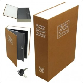 Книга сейф с ключом The new english dictionary Golden| 18см