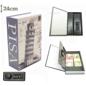 Книга сейф с кодовым замком  Пизанская башня| 24см