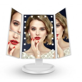 Зеркало косметическое с LED подсветкой,  белый цвет, USB зарядка