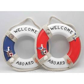 Спасательных  круг, диаметр  25см, синий и красный (комплект 2шт)