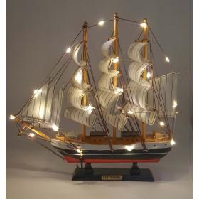 модель Корабля с подсветкой, 32см  дерево Cutty Sark