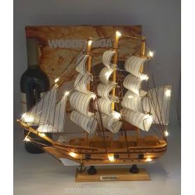 модель Корабля с подсветкой, 32см  дерево Dar Pomorza