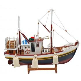 Рыболовецкое судно с сетями, дерево, 40см B